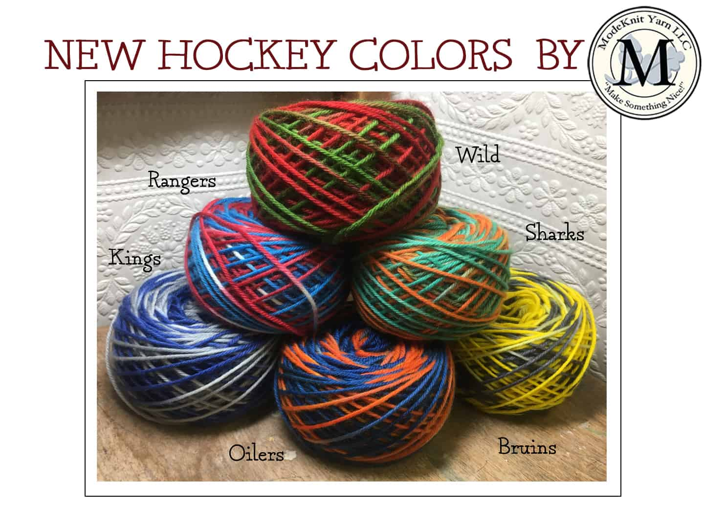 Chix with Stix (Hockey Colors) – ModeKnit Yarn