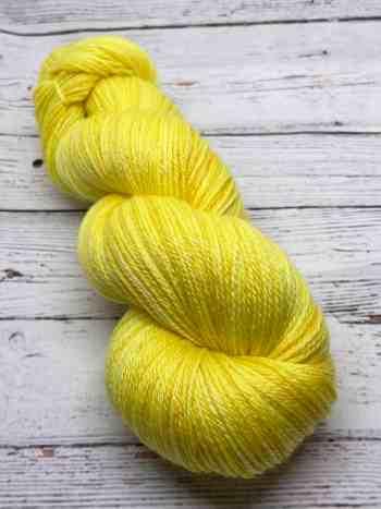 Brazilianite on ModeSock. A bright yellow yarn.