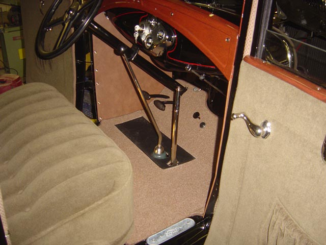 A View Of The Model Coupe Deluxe Interior With Correct Plating On