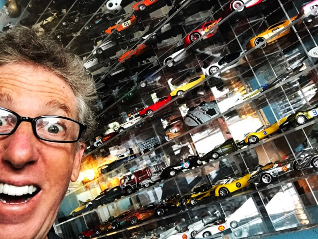 Fireball with his diecast collection