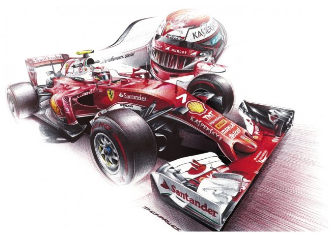 Automotive Art Ferrari F1