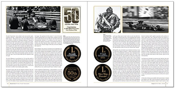 John Player Special Automotive Books