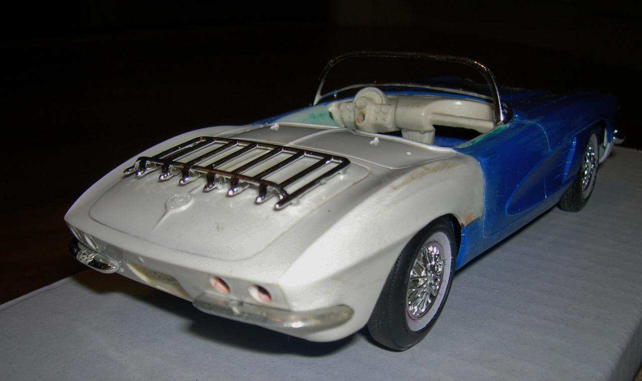 Route 66 Tv Show 1961 Corvette On The Workbench Model