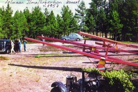 Loimaa aviation club planes 1957. First & seconds planes are PIK-5, third is PIK-7 Harakka II.