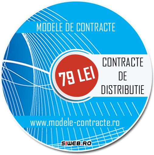 model contract distributie
