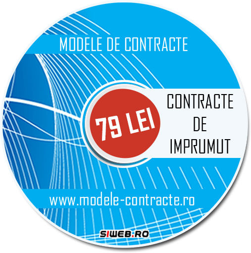model contract imprumut
