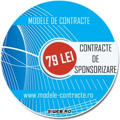 model contract sponsorizare