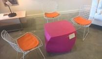 "**ITEM NOW SOLD** Knoll Bertoia vintage childrens' chairs. 24"" h. Set/3 750.-"