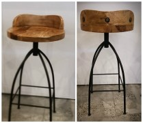 **ITEM NOW SOLD**Set/3 Arteriors 'Hinkley' Barstools. $950. set/3