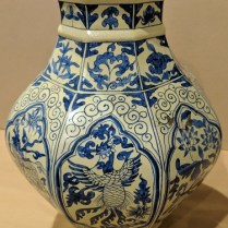 "**ITEM NOW SOLD** Chinese octagonal vase from The Jane Piper Reid Collection. 12""h. Orig. List: $600. Modele's Price: 150.-"