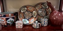 Collection of Imari, Gold Imari and ceramic. Each piece priced individually. Prices range from 15. - 75.