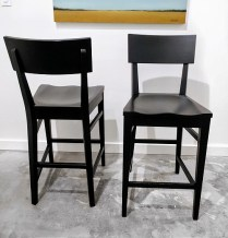 Pair Ethan Allen 'Impressions' counter stools. Approx one year old. Original