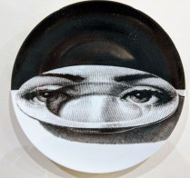"**ITEM NOW SOLD** Fornasetti 'Theme & Variations' Plate #118. Never used, original packing included. 10.25"" dia. Current List Price: $185. Modele's Price: 125.-"