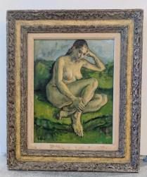 **ITEM NOW SOLD**Framed Susan Kahn painting. 495.-