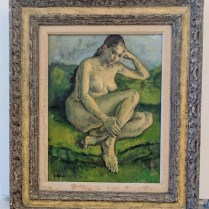 **ITEM NOW SOLD**Framed Susan Kahn painting. 495.-