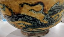 "Hand-painted Chinese bowl. 12"" dia. x 5""h. Two available. 75.- each"