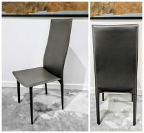 ** ITEM NOW SOLD.** Set of 6 Kasala Dining Chairs. Bonded Leather.595.- set/6