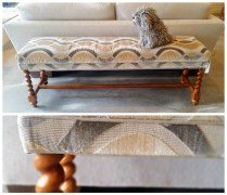 Upholstered Long Bench. Original Retail price : 1200. Modele's Price: 425.-
