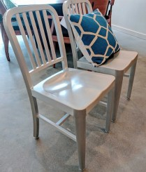 Pair Eurostyle Aluminium Dining Chairs. Current List: $390.-/pair. Modele's Price: 150.-/pair