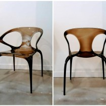 **ITEM NOW SOLD**Roche Bobois 'Ava' Chair. Gas molded polycarbonate. New List Price $500. each. Modele's Price: 250.- each. 2 available.