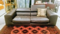 Roche Bobois Leather Sofa. Discontinued Style. Headrest adjusts up or down. Original List: $8000.- Modele's price: 2500.-