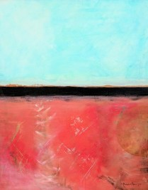 "Michele Harps.'Segments' Acrylic on canvas. 24""x 30"". 850.-"