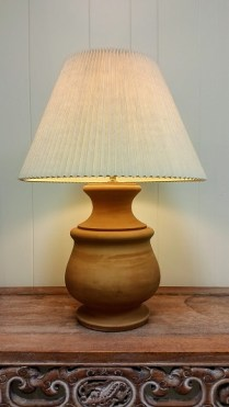 **ITEM NOW SOLD**Terra Cotta Lamp: 85.-