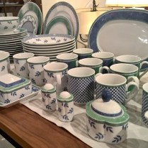 **ITEM NOW SOLD** 63-Piece Set; Villeroy & Boch 'Switch 3' in Casteel, Costa, and Switch 3 patterns. Current List: over $1,575. Modele's Price: 585.-set