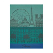 Le Jacquard Francais tea towel. 'Paris Panorama'. 100% cotton. 23.-