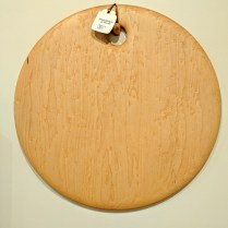 "Edward S. Wohl cutting board. 20"" round 210.-"
