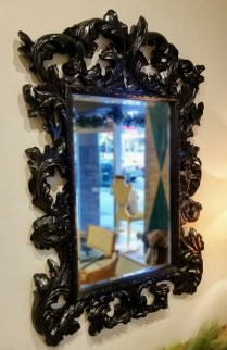 **ITEM NOW SOLD**Rococco Style Mirror. Original Price: $1200.- Modele's Price:425.-