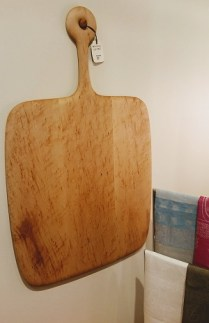 Birds-eye maple cheese/bread board. 295.00
