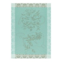 Les Jacquard Francais Traditional Tea Towel. Vervain. $23