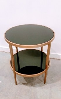 **ITEM NOW SOLD**Iron Side Table with gold finish. 225.-