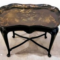 **ITEM NOW SOLD**Painted Tea Table. Purchased from Singer Antiques on Queen Anne 12 years ago. Original Price: $1,500. Modele's Price: 595.-