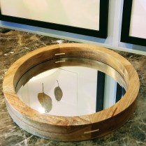 **ITEM NOW SOLD**Jamieson Small Round Mirrored Tray. Never Used. Current List Price: $120.- Modele's Price: 65.-