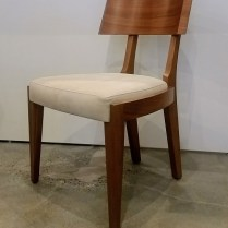 ** ITEM NOW SOLD.**Gulassa & Co. Straight Leg Dining Chair. Design by David Gulassa. Walnut and leather solid veneer. Original List: $3100.-Modele's Price: 495.-