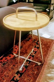 **ITEM NOW SOLD**Imax Wood/metal side table. Never Used.Current Retail Price:$115.- Modele's Price: 65.-