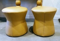 ** ITEM NOW SOLD.**Kasala Stool. Never Used. Original List. $135.- each.Modele's Price: 75. each- (1 available).