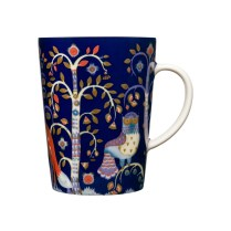 "'Taika' mug in blue, 13.5 oz. 4.5""h. Also available in white, black/white.. 32. - each"