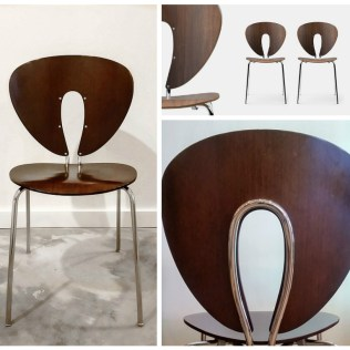**ITEM NOW SOLD** STUA 'Globus' Chairs (Spain) in discontinued Wenge Finish. Current List $395.- each. Modele's Price: 595.- /SET 4.