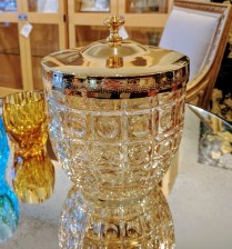 **ITEM NOW SOLD** Covered Ice Bucket. Purchased from Veritables. Original List: $175.- Modeles's Price: 85.-