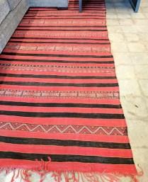 **ITEM NOW SOLD**Moroccan 'Hanbel' Berber Kilm. C. 1950's -1970's.Purchased in Egbert's in 2006. Original List: $1800.-Modele's Price: 950.-