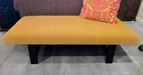 Custom Mohair Bench. New in 2009. 325.-