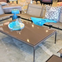 **ITEM NOW SOLD** Knoll Outdoor Furniture Set. Design by Richard Schultz. Chairs are 'Swell' design. Tables are '1966' collection. Approx 10 years old. Current list prices: 3 seat sofa: $4135.- 2 seat sofa: $3246.- Chair: $2059.- Coffee Table:: $1990.- Side Table: $1327.- Amounts to $12,757.- total. Modele's price: 5750.-/set.