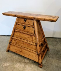 **ITEM NOW SOLD**Antique Chinese Barber Stool. C.1870 Elm wood: 125.-