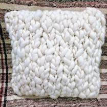 Chunky Crochet pillow by Homelosophy. Original List: $370.- Modele's Price: 75.-