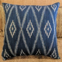 "**ITEM NOW SOLD**John Robshaw Ikat Indigo Pillow. 20.75"" x 20"". Original List: $200.- Modele's Price: 95.-"