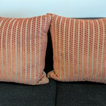 "**ITEM NOW SOLD** Pair Ryan Studio pillows, 21"" square. Current List: $265. each. Modele's Price: 225. pr."