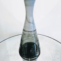 **ITEM NOW SOLD**Tall West Elm grey glass vase. 30.-